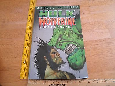 Hulk Wolverine six hours TPB VF/NM 1st print comic Hulk Legends