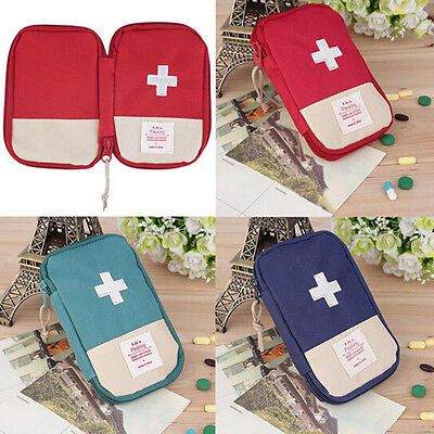 Camping Home Survival Portable First Aid Kit Bag Case Pill Tablet Pouch Dazzling