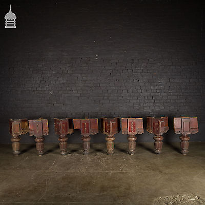 Ornately Carved Fluted Solid Mahogany Snooker Table Legs – 8 Available