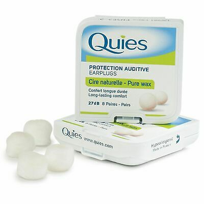 Quies Pure Wax Ear Plugs 8 Pairs