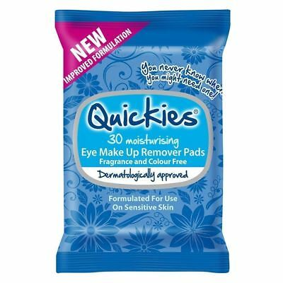 Quickies Eye Make-up Remover Pads - 30 1 2 3 6 12 Packs