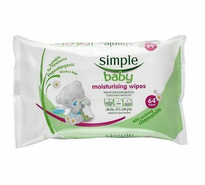 Simple Baby Moisture And Care Wipes 64 Wipes 1 2 3 6 12 Packs
