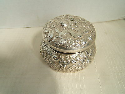 S Kirk & Son Sterling Silver Box Complete Repousse Exc Quality 178.8 Grams
