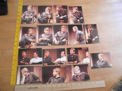 """Harrison Ford 1981 lot of 16 interview panel snapshot photos 3.5x5"""" VINTAGE"""
