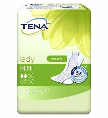 Tena Lady Mini 20 Pads 1 2 3 6 12 Packs