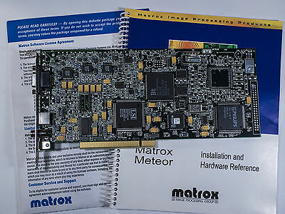 Matrox Meteor RGB 571-03 Rev C with box, manual and software