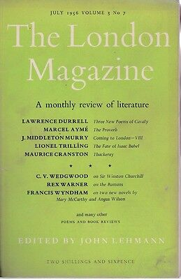 THE LONDON MAGAZINE V3 #7 July 1956 Lawrence Durrell/Lionel Trilling/Marcel Ayme