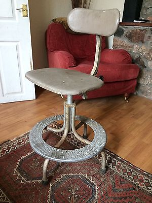 Vintage revolving machinists chair