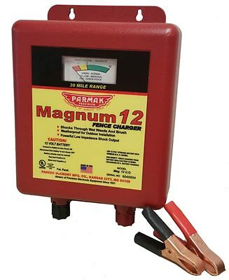 Parmak Magnum 12 MAG12-UO Electric Fence Charger - 12 Volt New Style! 2 DAY SHIP