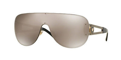 852658f89c1e8 VERSACE VE 2166 1252 5A Gold Frame Mirrored Lens 41MM Sunglasses ...