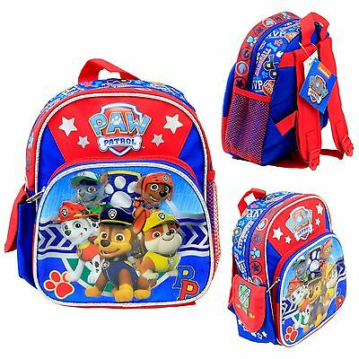 "Nickelodeon Paw Patrol Kids 10"" Mini School Backpack Book Bag Licensed New USA"