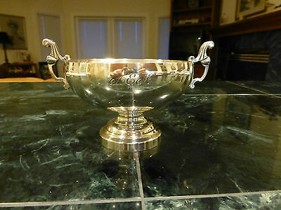 Tiffany & Co Sterling Silver Double Handle Footed Bowl Loving Cup