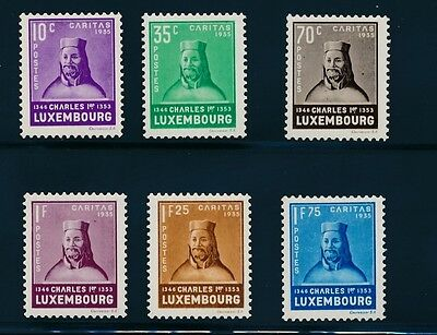 Luxembourg B67-72 1935 Charles I H set cat. value $46