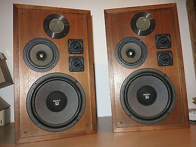 Sony 7200 Speaker Vintage 70er All Original in Very Good Condition