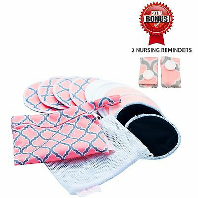 EvaPura Washable Bamboo Nursing Breast Pads 10  Antibacterial Super Absorbent
