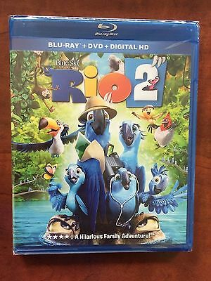 Rio 2  Blu-ray + DVD +  Digital Copy NEW Free Ship