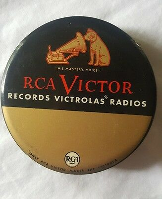 """Vintage Rca Victor Celluloid Record Cleaner """"his Master's Voice"""" Duster Brush Ad"""