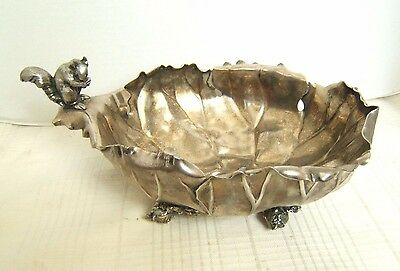 Pairpoint Silverplate Bowl With Squirrel