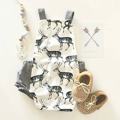 Infant Newborn Baby Girls Boys Cotton Romper Bodysuit Jumpsuit Sunsuit Clothes