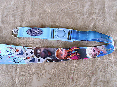 Disney * FROZEN * Elsa Anna Olaf * Pin Trading Lanyard w/ Detachable Section