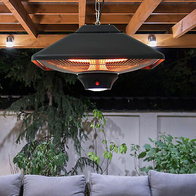 Electric Hanging Heater LED Ceiling Halogen 2000w Patio Garden Aluminum Tent