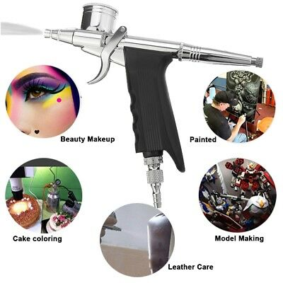 AU Airbrush Spray Gun Dual Action Air Brush Craft Tattoo Hose Set 0.2/0.3/0.5mm
