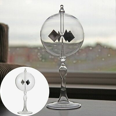 Crookes Radiometer Clear Glass Light Mill Solar Power Home Office Decoration