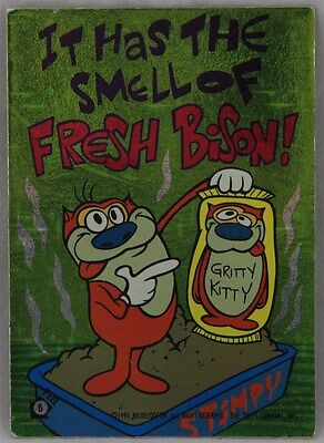Ren & Stimpy 6x Trading Cards/Sticker: Numbers 6/7/21/29/34/41
