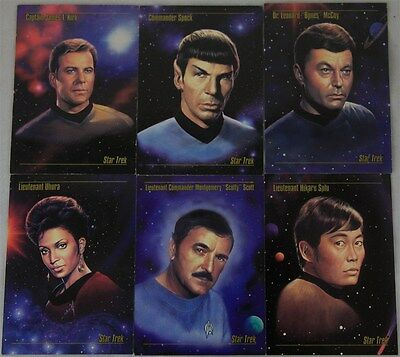 Star Trek SkyBox Master Series 30x Trading Cards: Numbers 1 - 18 & 78-89