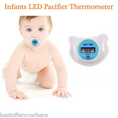 Infants LED Electronics Pacifier Thermometer Baby Kid Health Temperature Monitor
