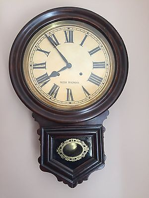 Seth Thomas Station School Wall Clock In Excellent Working Order