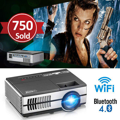 1500lm Mini Wifi Bluetooth Projektor Android Heimkino Beamer Full HD Videospiele