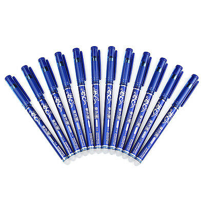 12Pcs Erasable Pen 0.5mm Rollerball Write Heat Erase Pen for Writing Drawing