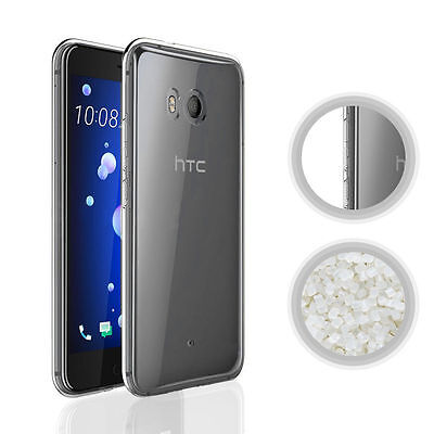 Case Soft Gel TPU Silicone Shockproof Protector Anti Slip Tech Clear For HTC U11