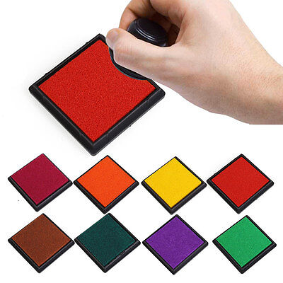 15 Colors Durable DIY Craft Oil Based Stamp Ink*Pad Print For Stamps Rubber Wood
