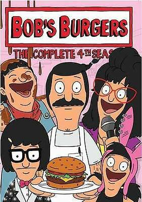 Bobs Burgers: The Complete 4th Season DVD, 2015, 3-Disc Set Animated Comedy New