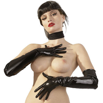 Latex Gloves S Guanti In Lattice Nero Di Latex