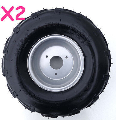 Pair of 16x8-7 Wheel Tyre/Tire + Rim ATV Quad Bike Buggy Ride on Mower Go kart