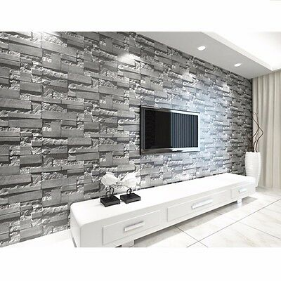 Wallpaper 3D Mural Roll Modern Stone Brick Wall Background Textured Art Decor