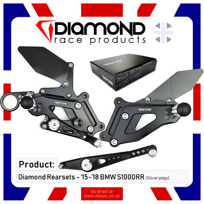 Diamond Race Products - Bmw S1000Rr 2015 '15 Rearset Footrest Kit