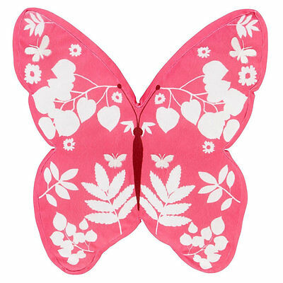 Pink Floral, Butterfly Shaped Cushion