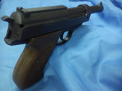 P38 toy pistol recoil Simulation blowback 007 film prop Walther mauser spy gun