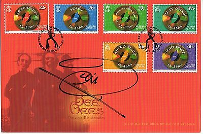 """Barry Gibb die Bee Gees"""" Isle Of Man FDC Unterzeichnet The bee gees"""