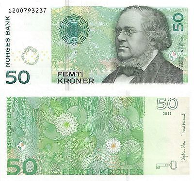 Norway 50 Kroner (2011) - Water Lillies and Dragonfly/p46d/Prefix G UNC