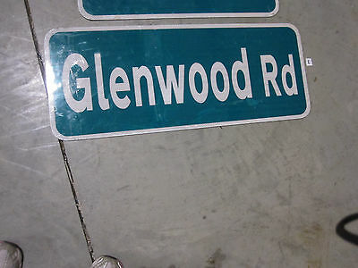 "Glenwood ST STREET SIGN  30"" x 12"""