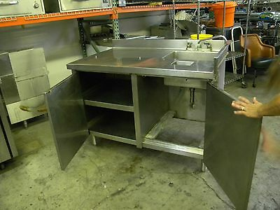 restaurant equipment work table with sink