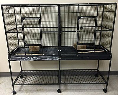 LARGE Double Flight Wrought Iron Bird Cage Cockatiel Ferret Sugar Glider0437-999