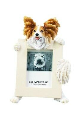 NIB! E&S Imports PETS Papillon Picture Frame Animal Gift Dog Lover