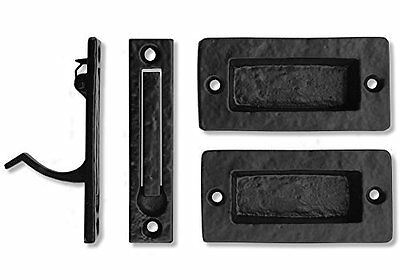 "Iron Valley 4"" Square Pocket Pull Edge Kit Solid Cast Door Knobs Handles Garden"