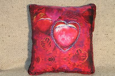 "Handmade/embellished ""Peaceful Heart"" Square Lavender-Filled Sachets/Pillows"